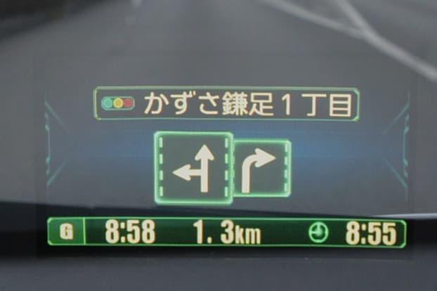 複数車線の場合は車線数に合わせてレーンを表示