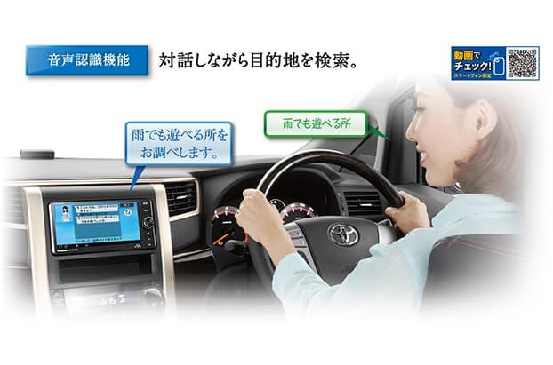 音声認識機能には、いちいち画面を見なくてもすむという高い安全性も利点。