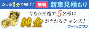 今なら車をご成約された方抽選5名に、純金インゴット・メイプルリーフ金貨(総額12万円相当)をプレゼント!