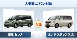 話題のミニバン、日産 セレナとホンダ ステップワゴンの試乗レビュー比較です。