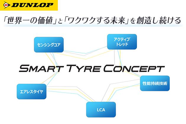 「東京モーターショー 2017」にダンロップブースを出展。未来のモビリティ社会で求められる性能を実現する 技術開発コンセプト「SMART TYRE CONCEPT」を発表