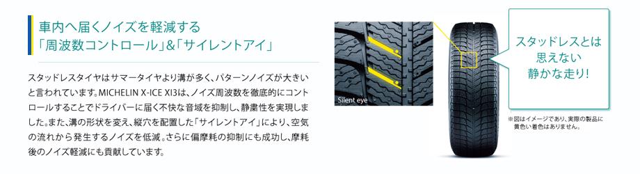 車内へ届くノイズを軽減する「周波数コントロール」「サイレントアイ」