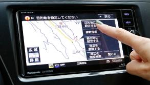 7V型ワイド液晶モニター『三峯神社』を目的地をセット!